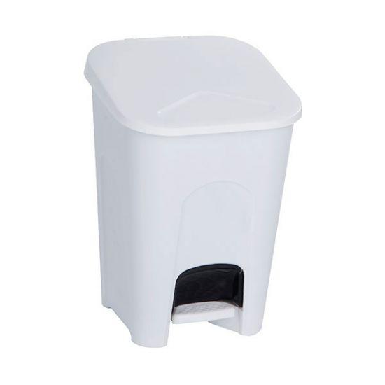White 16lt Plastic Pedal Bin WM2004