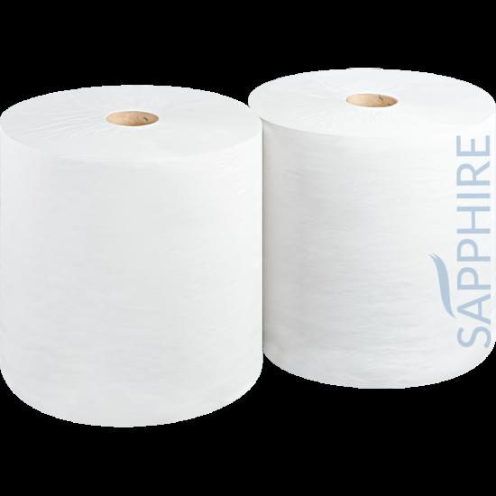 Heavy Duty Midi Wiper Roll 400m 2ply White - Pack Of 2 PAP2009