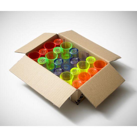 BBP Econ Neon Polystyrene Shot Glass 25ml (Box Of 24) BBP 001-2MN CE