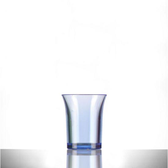 BBP Econ Polystyrene Shot Glass Neon Blue CE 25ml BBP 001-2NB CE