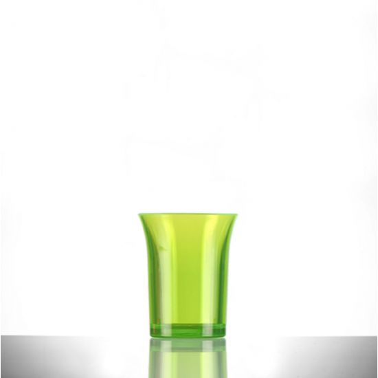BBP Econ Polystyrene Shot Glass Neon Green CE 25ml BBP 001-2NG CE
