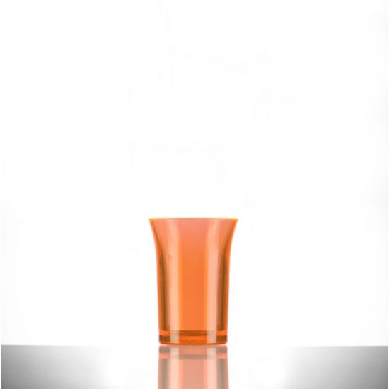 BBP Econ Polystyrene Shot Glass Neon Orange CE 25ml BBP 001-2NO CE