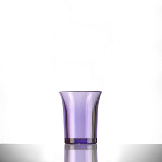 BBP Econ Polystyrene Shot Glass Neon Purple CE 25ml BBP 001-2NP CE
