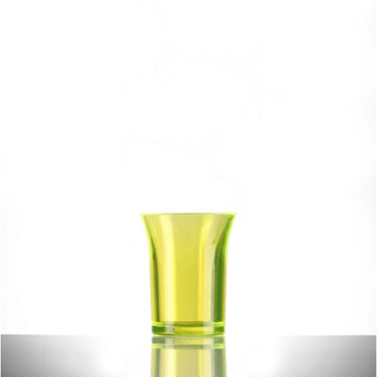 BBP Econ Polystyrene Shot Glass Neon Yellow CE 25ml BBP 001-2NY CE