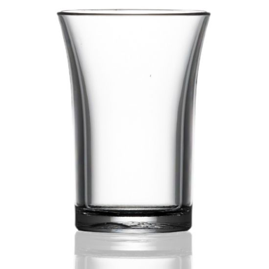 BBP Econ Plastic Party Shot Glass CE Marked Rigid Reusable Polystyrene 35ml
