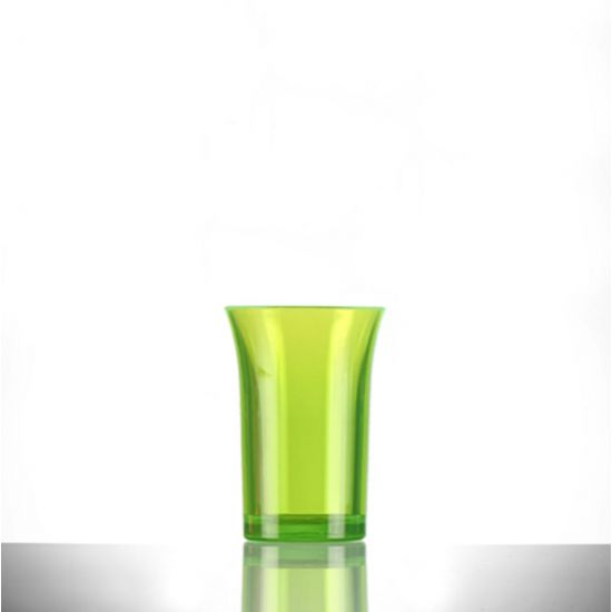 BBP Econ Polystyrene Shot Glass Neon Green CE 35ml BBP 002-2NG CE