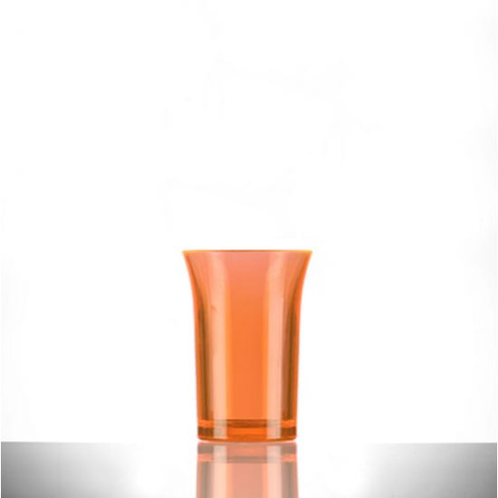 BBP Econ Polystyrene Shot Glass Neon Orange CE 35ml BBP 002-2NO CE