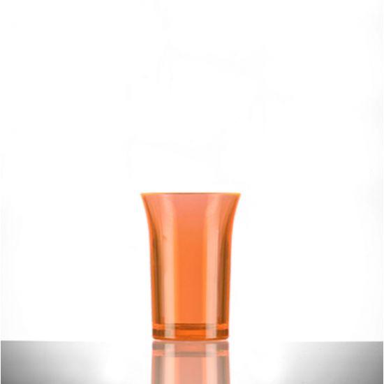 BBP Econ Polystyrene Shot Glass Neon Orange CE 35ml BBP 002-2NO CE
