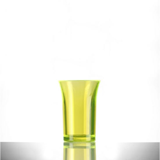 BBP Econ Polystyrene Shot Glass Neon Yellow CE 35ml BBP 002-2NY CE