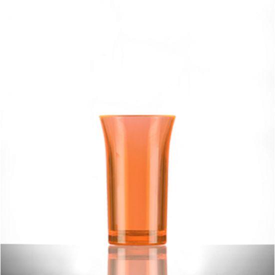 BBP Econ Polystyrene Shot Glass Neon Orange CE 50ml BBP 003-2NO CE