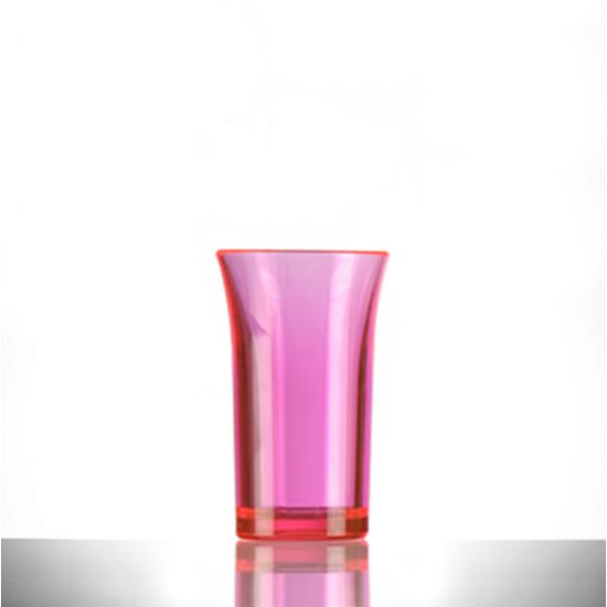 BBP Econ Polystyrene Shot Glass Neon Red CE 50ml BBP 003-2NR CE