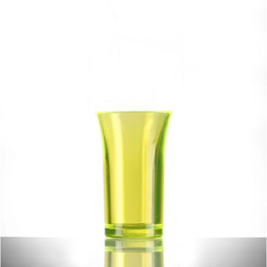 BBP Econ Polystyrene Shot Glass Neon Yellow CE 50ml BBP 003-2NY CE
