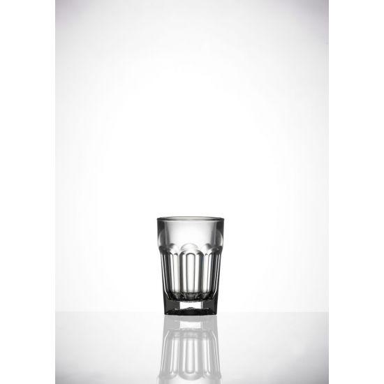 BBP Elite Remedy Polycarbonate Shot Glass Clear (24 Box) BBP 006-1CL CE
