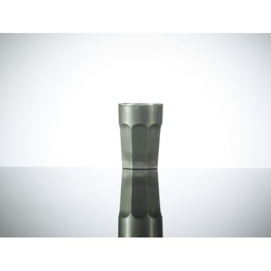 BBP Elite Remedy Polycarbonate Shot Glass Silver (24 Box) BBP 006-1SV CE
