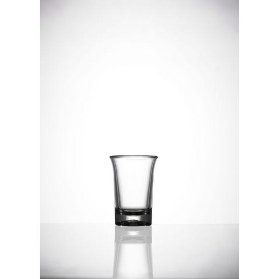 BBP Elite Premium Polycarbonate Shot Glass (24 Box) BBP 007-1CL CE