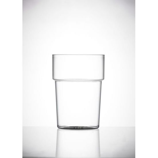BBP Econ Polystyrene Tumbler Glass (Box Of 100) BBP 070-2CL NS