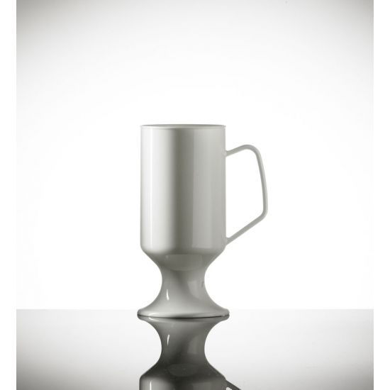 BBP Elite Polycarbonate Coffee Cup White BBP 081-1WH NS
