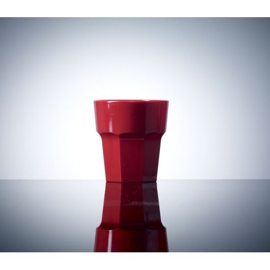 BBP Elite Remedy Polycarbonate Rocks Glass Red (36 Box) BBP 090-1RD NS