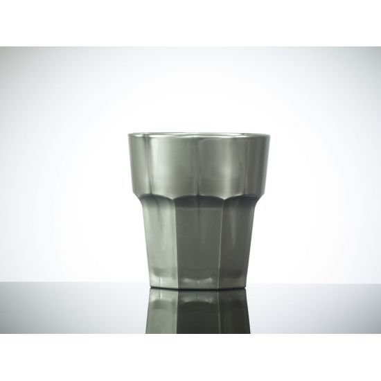 BBP Elite Remedy Polycarbonate Rocks Glass Silver (36 Box) BBP 090-1SV NS
