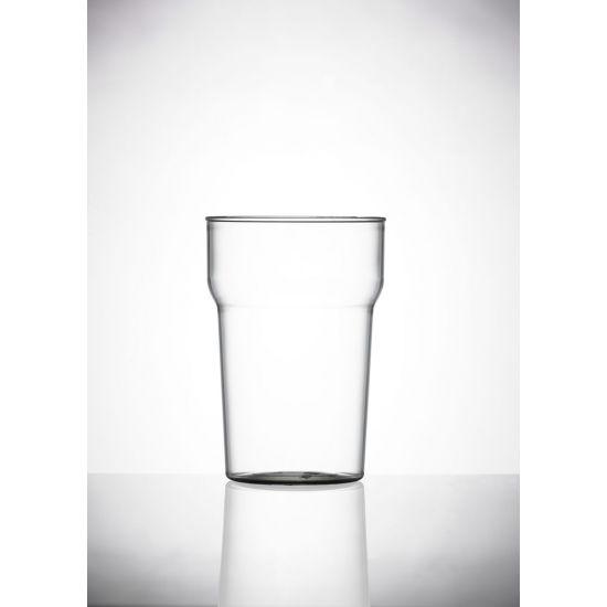 BBP Elite Polycarbonate Nonic Half Pint Glases BBP 102-1CL CE