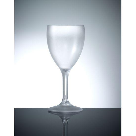 BBP Elite Premium Polycarbonate  Wine Glasses - 12 PACK- Frosted BBP 109-1FR NS