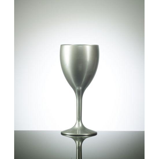 BBP Elite Polycarbonate Wine Glasses Silver - 12 PACK BBP 109-1SV NS