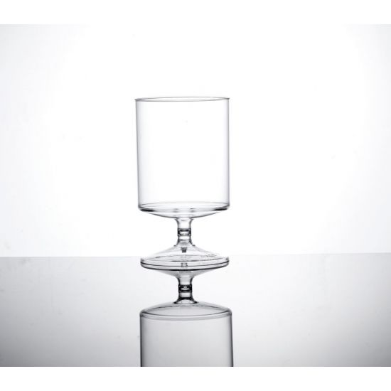 BBP ECON CLEAR POLYSTYRENE PLASTIC STACKING WINE GLASS BBP 118-2CL NS