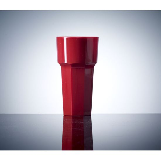 BBP Elite Remedy Polycarbonate Tall Glass Red (36 Box) BBP 122-1RD NS