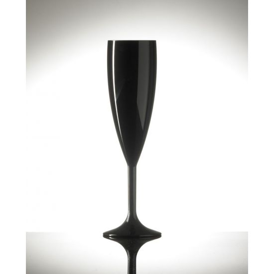 BBP Elite Premium Polycarb Champagne Flute Black - Single BBP 141-1BL NS-PK1