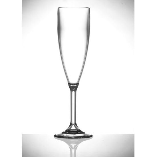 BBP Elite Premium Polycarb Champagne Flute Clear 175ml (12 Bx) BBP 141-1CL CE