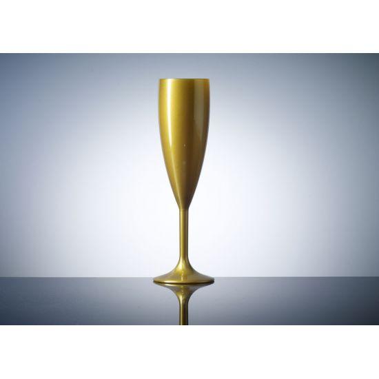 BBP Elite Premium Polycarb Champagne Flute Gold Box of 12 BBP 141-1GD NS