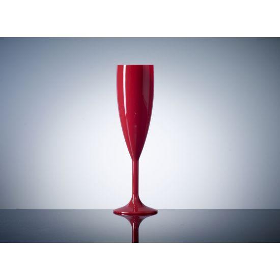 BBP Elite Premium Polycarb Champagne Flute Red BBP 141-1RD NS#PK1
