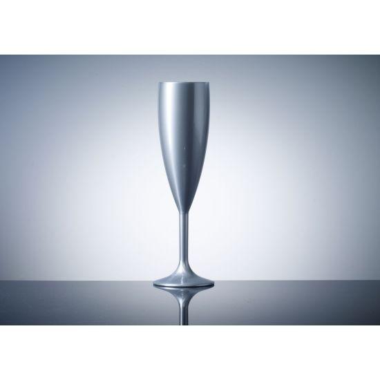 BBP Elite Premium Polycarb Champagne Flute Silver - Single BBP 141-1SV NS#PK1