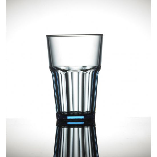 BBP Elite Remedy Polycarb Beverage Glass Blue BBP 142-1NB NS