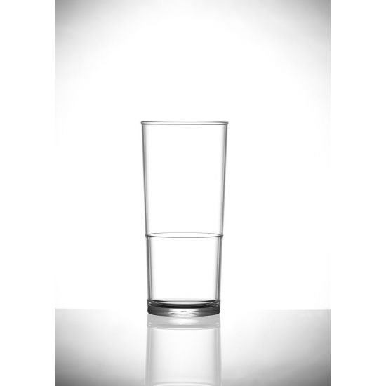 BBP Elite In2stax  Polycarbonate Half Pint Glass (48 Box) BBP 160-1CL CE