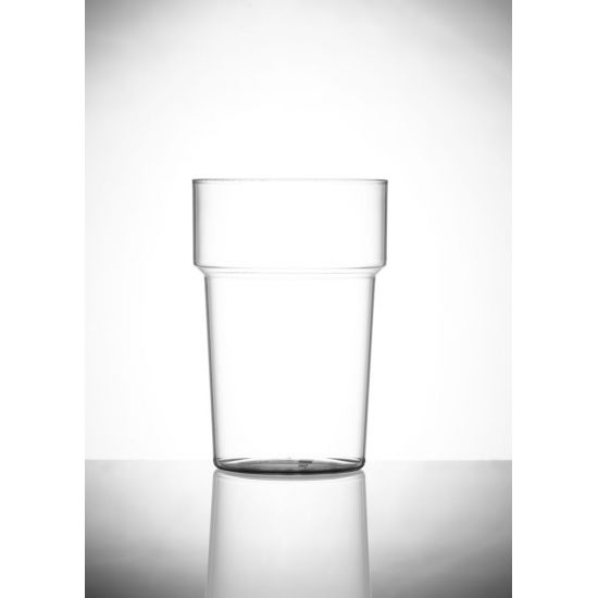 BBP Econ Polystyrene Rigid Pint Glass - Single BBP 250-2CL CE-PK1