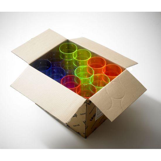 BBP Econ  Mixed Polystyrene Tumbler  Neon CE BBP 250-2MN CE
