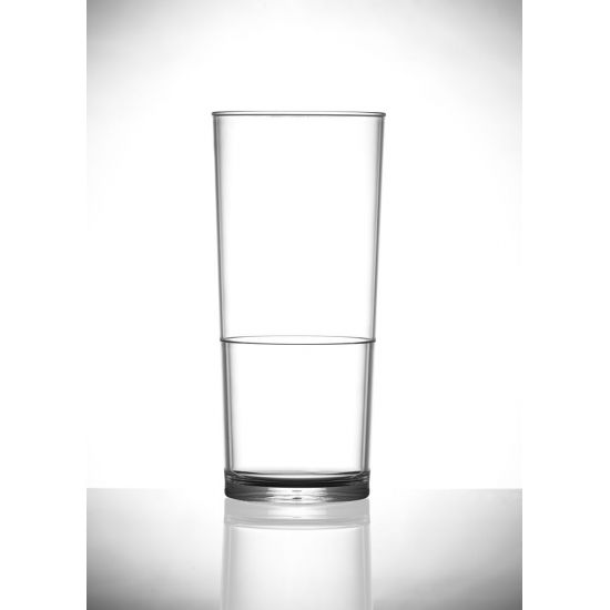 BBP Elite In2stax Polycarbonate Pint Glass NU (Box Of 48) BBP 260-1NU CE