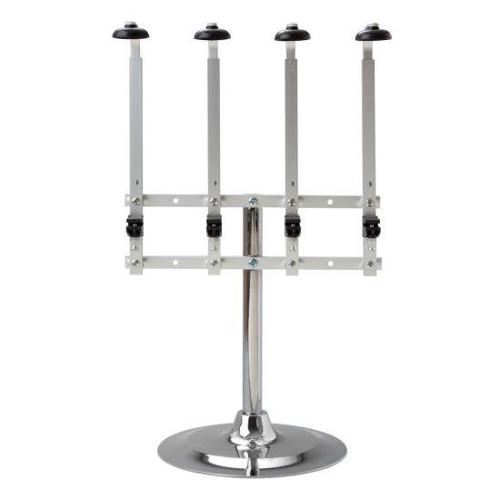 Beaumont Single Pillar Portable 4 Bottle Stand – Heavy Base 70cl/1 Litre BEA 3225