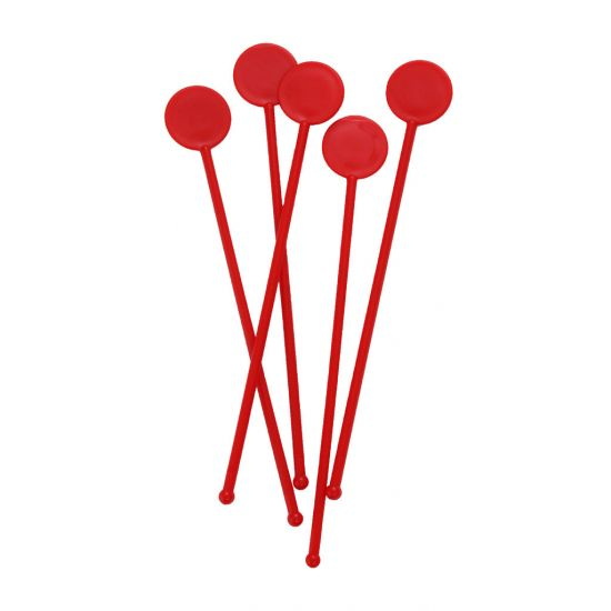 Beaumont 7 Inch Disc Stirrers – Red – Case QTY 250 BEA 3306RED