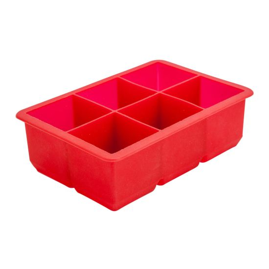 Beaumont 6 Section Red Silicone Ice Mould BEA 3350