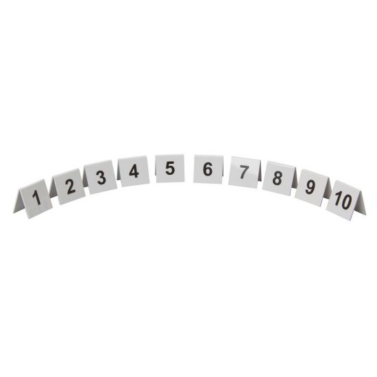 Beaumont Plastic Table Numbers 1-10 Set BEA 3442