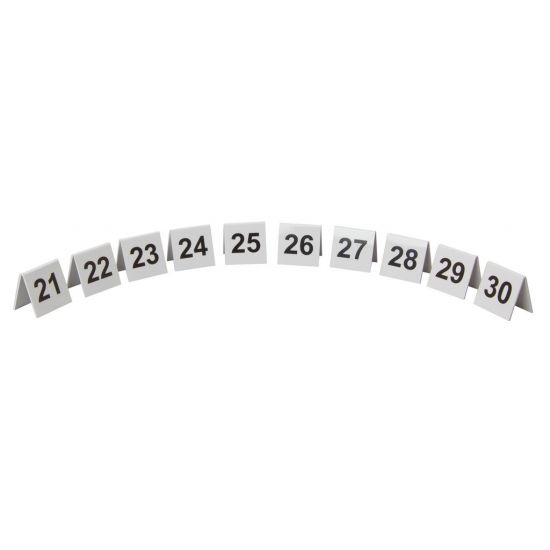 Beaumont Plastic Table Numbers 21-30 Set BEA 3444