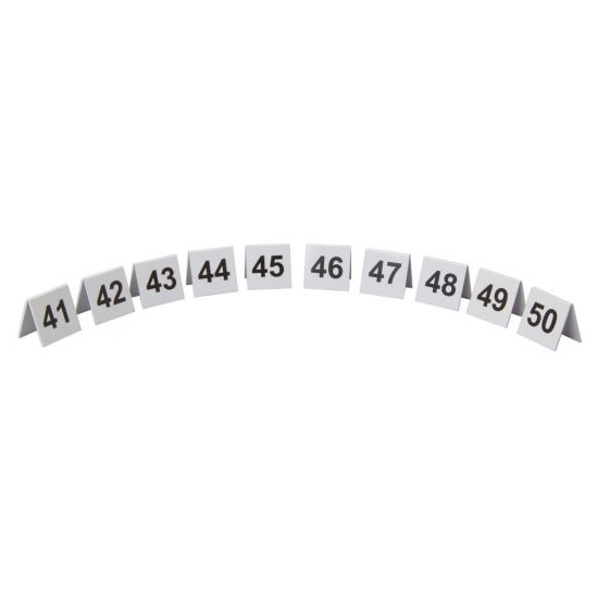 Beaumont Plastic Table Numbers 41-50 Set BEA 3446