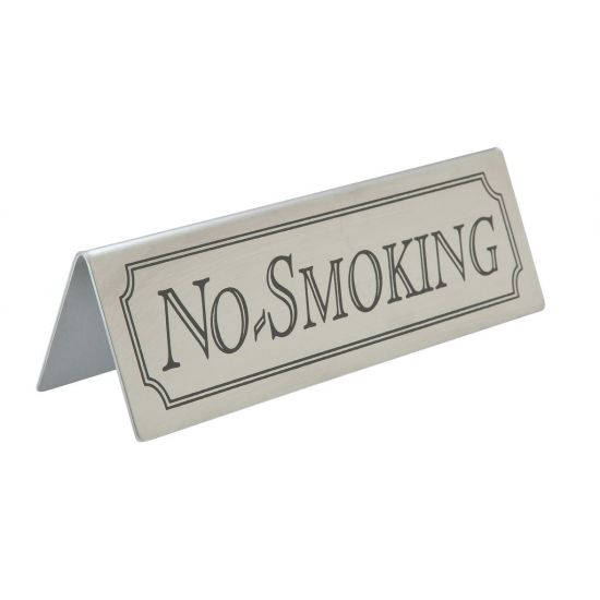 Beaumont Stainless Steel No Smoking Sign BEA 3455