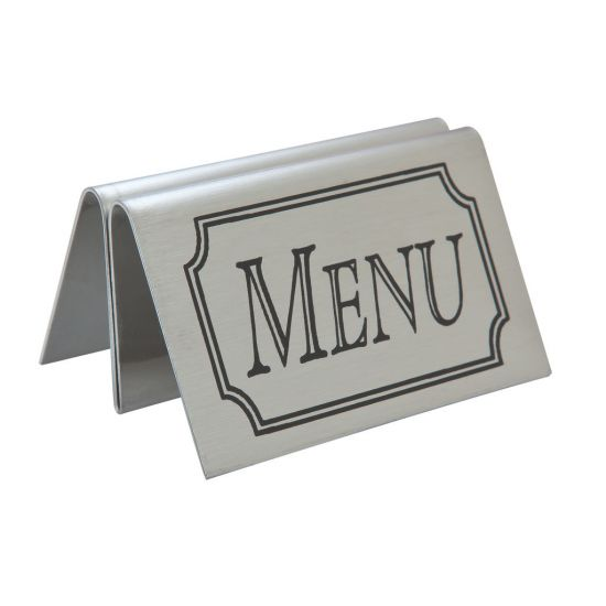 Beaumont Stainless Steel Tent Type Menu Holder BEA 3457