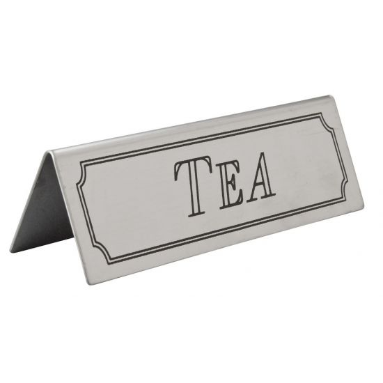 Beaumont Stainless Steel Tea Sign BEA 3464