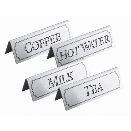 Beaumont Stainless Steel Hot Water Sign BEA 3463
