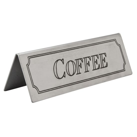 Beaumont Stainless Steel Coffee Sign BEA 3465