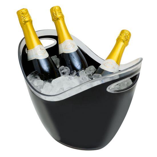 Beaumont 8 Litre Plastic Wine/Champagne Cooler – Black BEA 3493